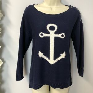 Tommy Hilfiger Navy Anchor Knit Sweater